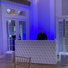 tufted-DJ-booth-white-speakers-1