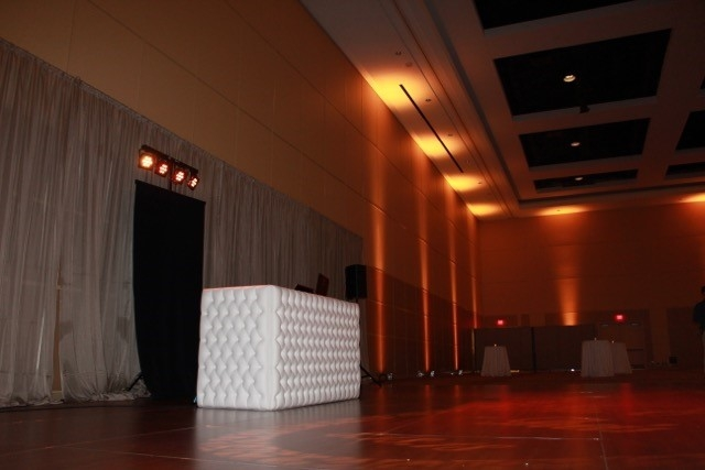 White tufted DJ booth Rochester 2