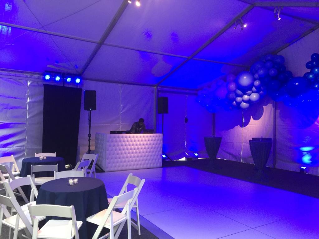 tent tufted white dj booth 2