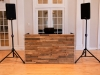 4 DJ Booth - 3D Reclaimed Wood