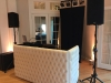 White Tufted DJ booth 8