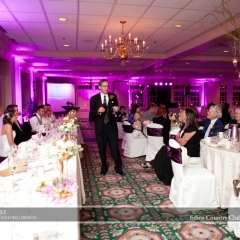 Wedding led uplighting at Edina Country Club 5