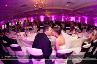Wedding led uplighting at Edina Country Club 4
