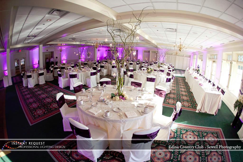 Wedding led uplighting at Edina Country Club 2
