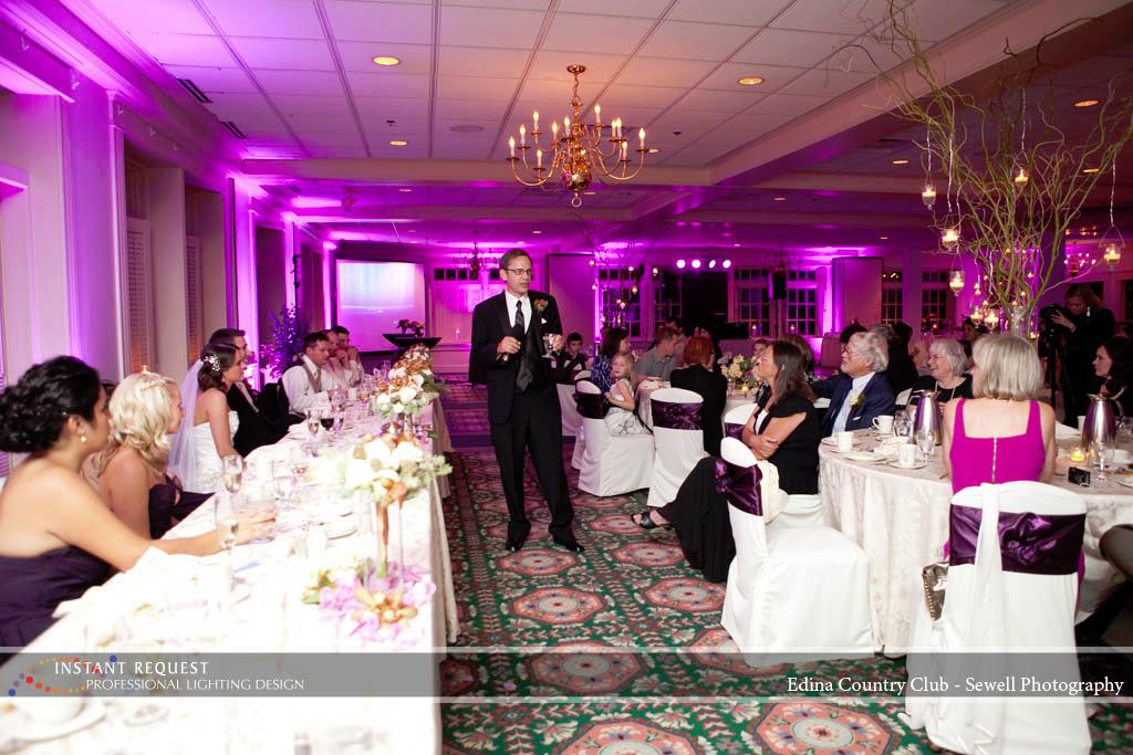 Wedding Led Uplighting At Edina Country Club 5
