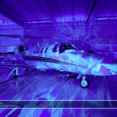 Wedding led uplighting at Flying Cloud Airport 4