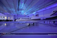 Wedding led uplighting at Flying Cloud Airport 1