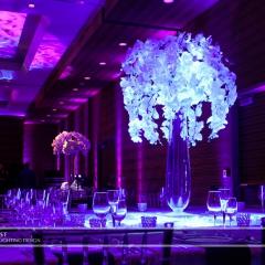 Wedding led uplighting at Loews Hotel 1