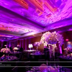 Wedding led uplighting at Loews Hotel 8
