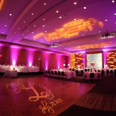 Wedding led uplighting at Loews Hotel 10