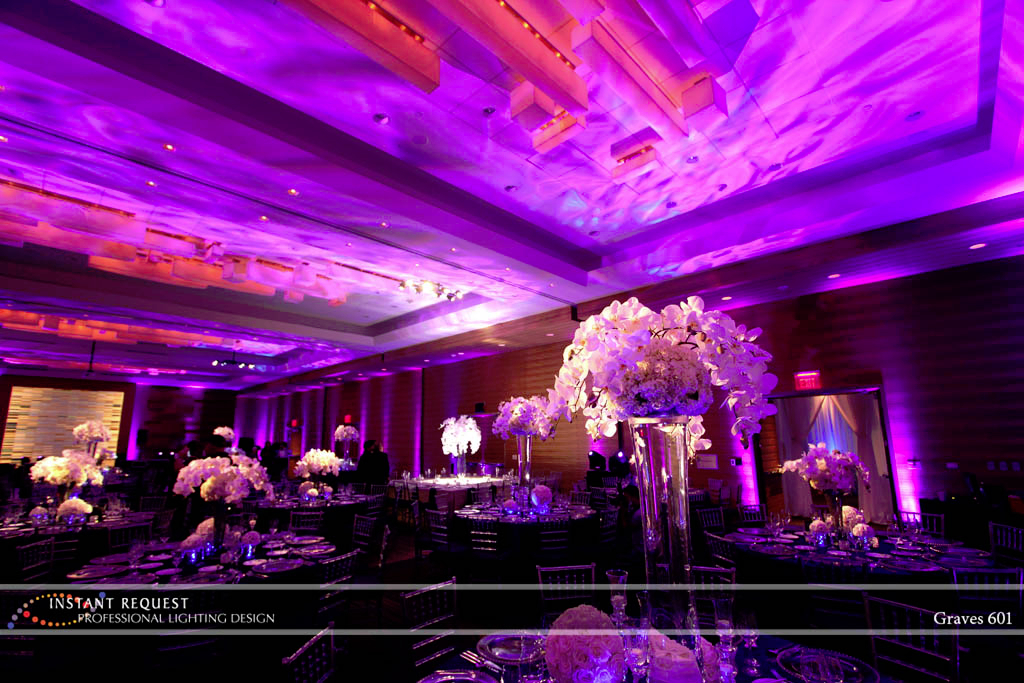 Wedding led uplighting at Loews Hotel 8