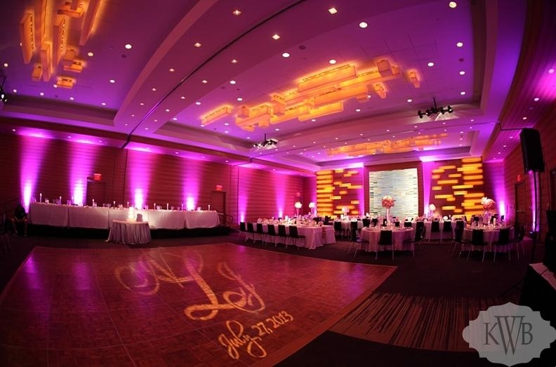 Wedding led uplighting at Loews Hotel 10