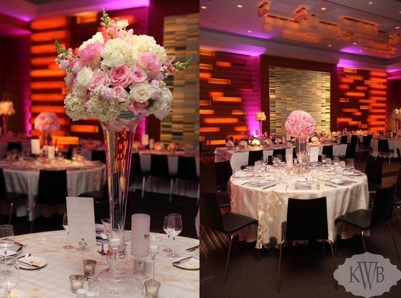 Wedding led uplighting at Loews Hotel 9