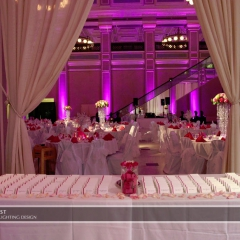 Wedding led uplighting at Great Hall 01