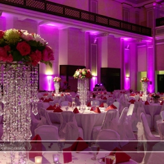 Wedding led uplighting at Great Hall 03
