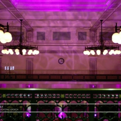 Wedding led uplighting at Great Hall 05