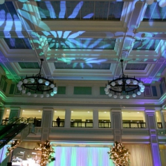 Wedding led uplighting at Great Hall 08