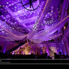 Wedding led uplighting at Great Hall 10