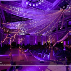 Wedding led uplighting at Great Hall 11