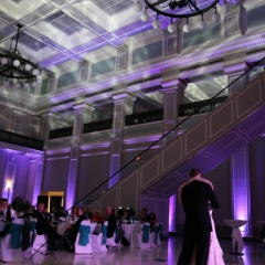 Wedding led uplighting at Great Hall 16