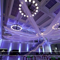 Wedding led uplighting at Great Hall 20