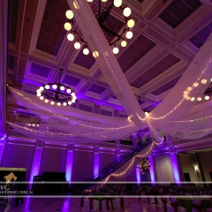 Wedding led uplighting at Great Hall 21