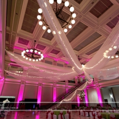 Wedding led uplighting at Great Hall 23