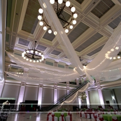 Wedding led uplighting at Great Hall 25