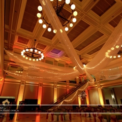 Wedding led uplighting at Great Hall 26