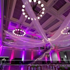 Wedding led uplighting at Great Hall 28