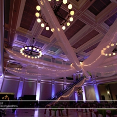 Wedding led uplighting at Great Hall 29
