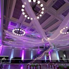 Wedding led uplighting at Great Hall 30