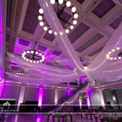 Wedding led uplighting at Great Hall 31