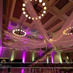 Wedding led uplighting at Great Hall 32