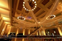 Wedding led uplighting at Great Hall 15