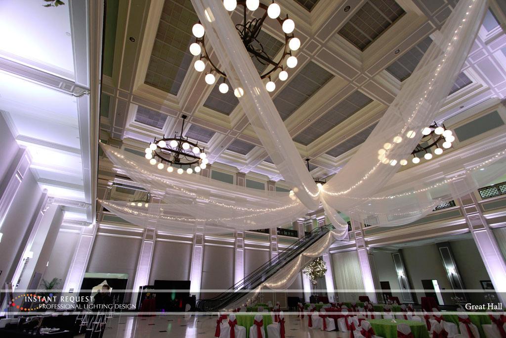 Wedding led uplighting at Great Hall 25