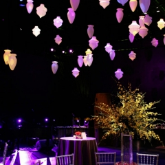 Wedding led uplighting at Guthrie  11