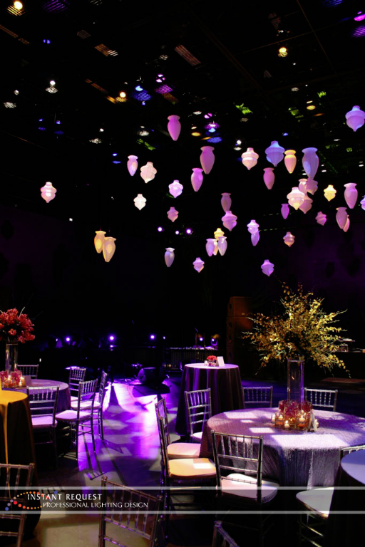 Wedding led uplighting at Guthrie  10