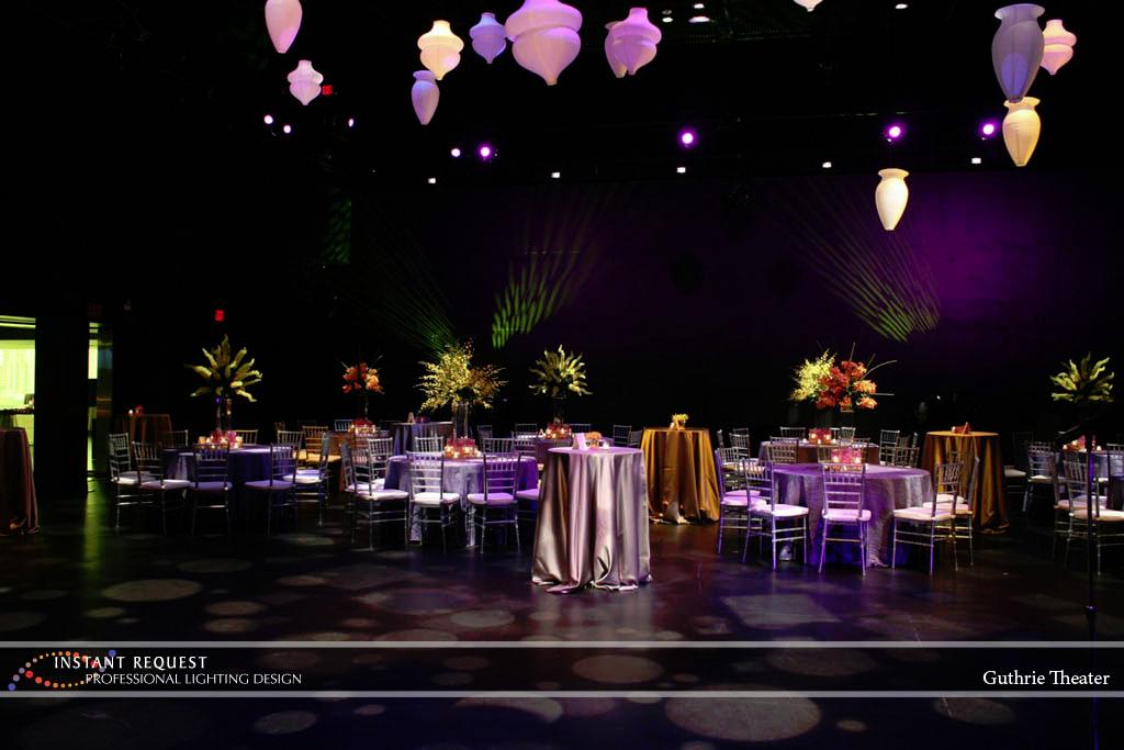 Wedding led uplighting at Guthrie  13
