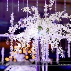 Wedding led uplighting at Hilton  1