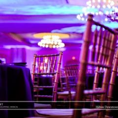 Wedding led uplighting at Hilton  6