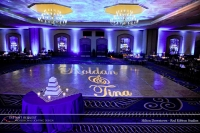 Wedding led uplighting at Hilton  3