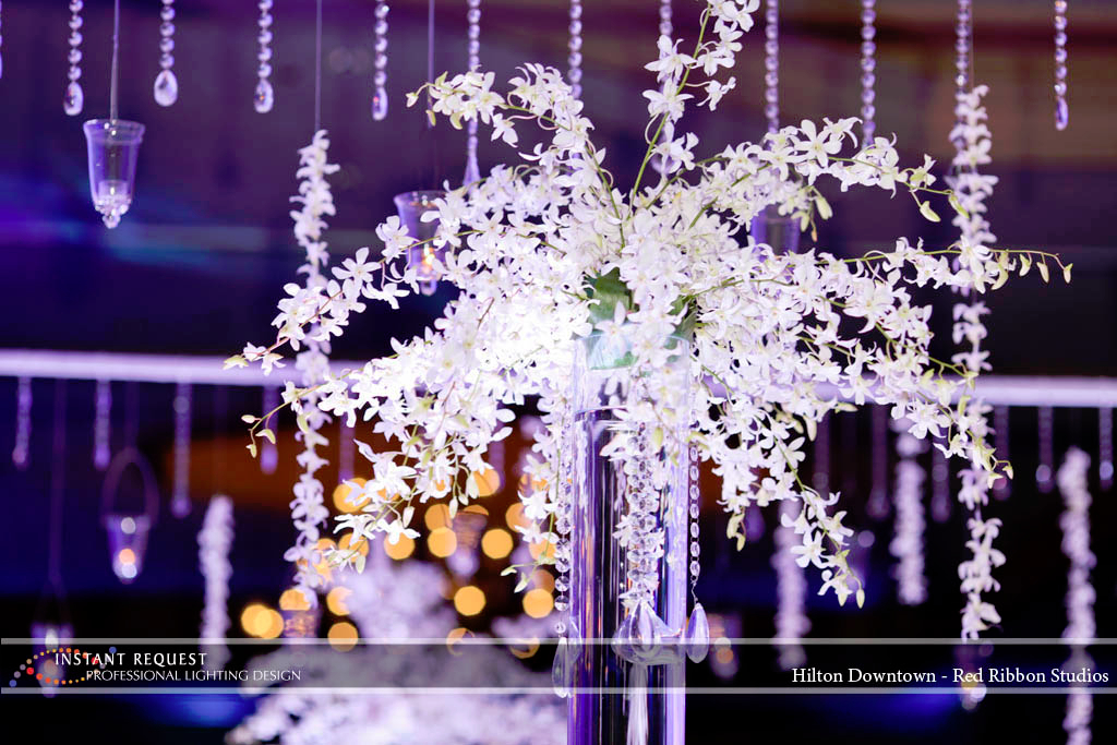 Wedding led uplighting at Hilton  1