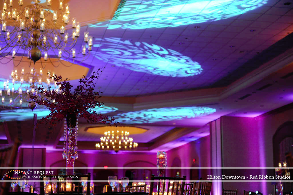 Wedding led uplighting at Hilton  4
