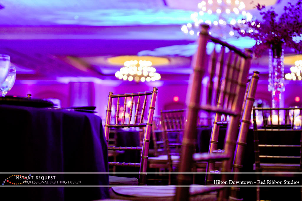 Wedding led uplighting at Hilton  6