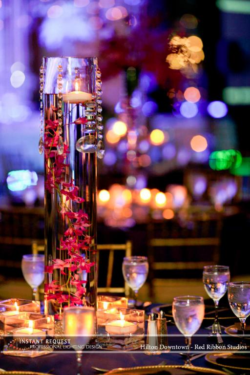 Wedding led uplighting at Hilton  7