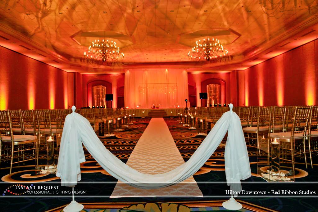 Wedding led uplighting at Hilton  8