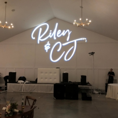 Custom wedding monogram at Hutton House