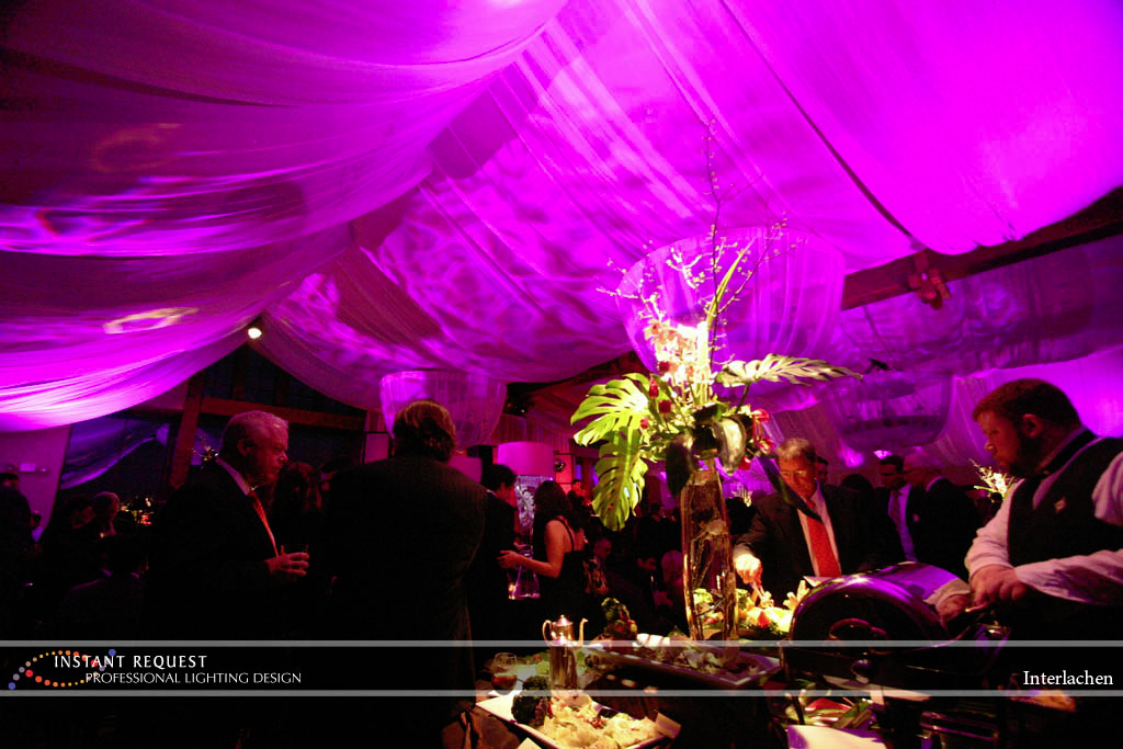 Wedding led uplighting at Interlachen  1