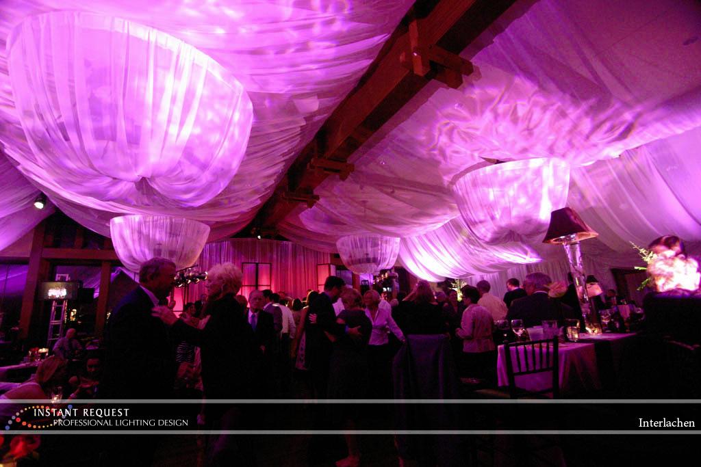 Wedding led uplighting at Interlachen  3